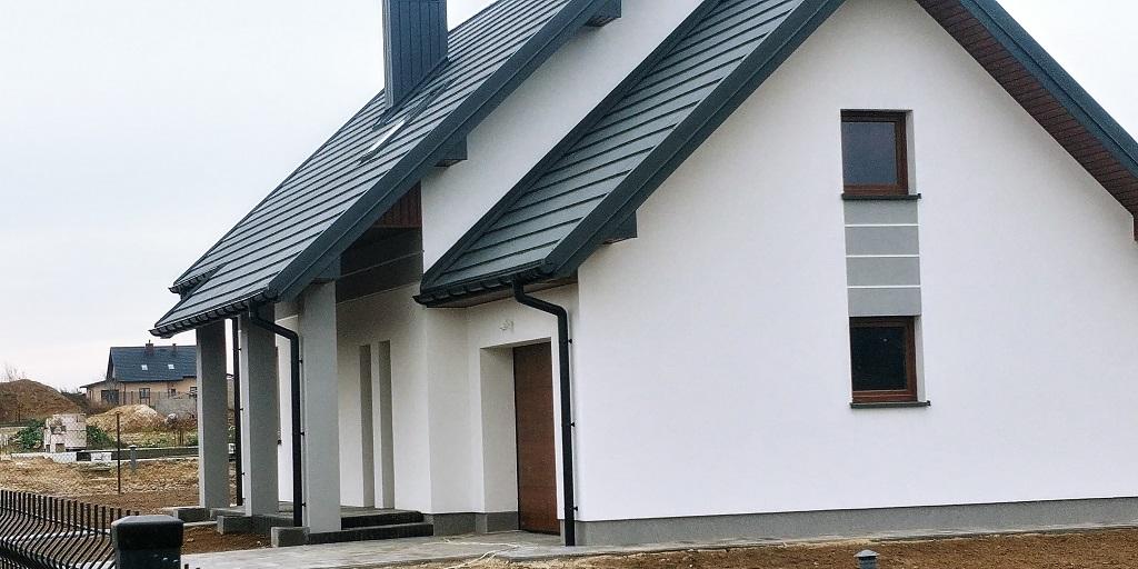 elewacja frontowa i boczna domu