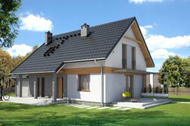 Dom z poddaszem 146mkw – działka 1000mkw – cena 470 000zł