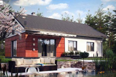 Dom parterowy 93mkw – działka 1001mkw – cena 410 000zł