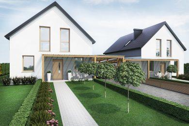 Dom (nr 1) z poddaszem 123mkw – działka 580mkw – cena 450 000zł