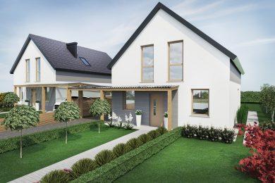 Dom (nr 2) z poddaszem 123mkw – działka 580mkw – cena 450 000zł